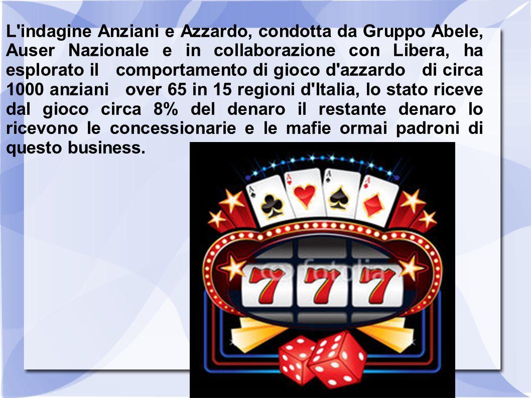 L'indagine Anziani e Azzardo, condotta da Gruppo Abele, Auser Nazionale e in collaborazione con Libera, ha esplorato il comportamento di gioco d'azzar