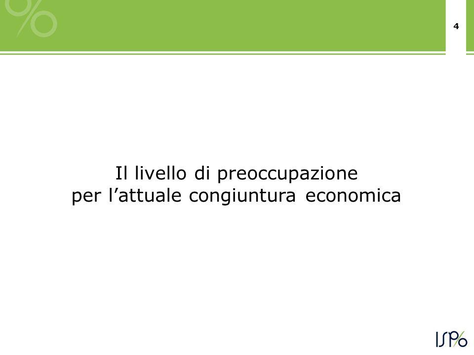 4 Il livello di preoccupazione per l'attuale congiuntura economica