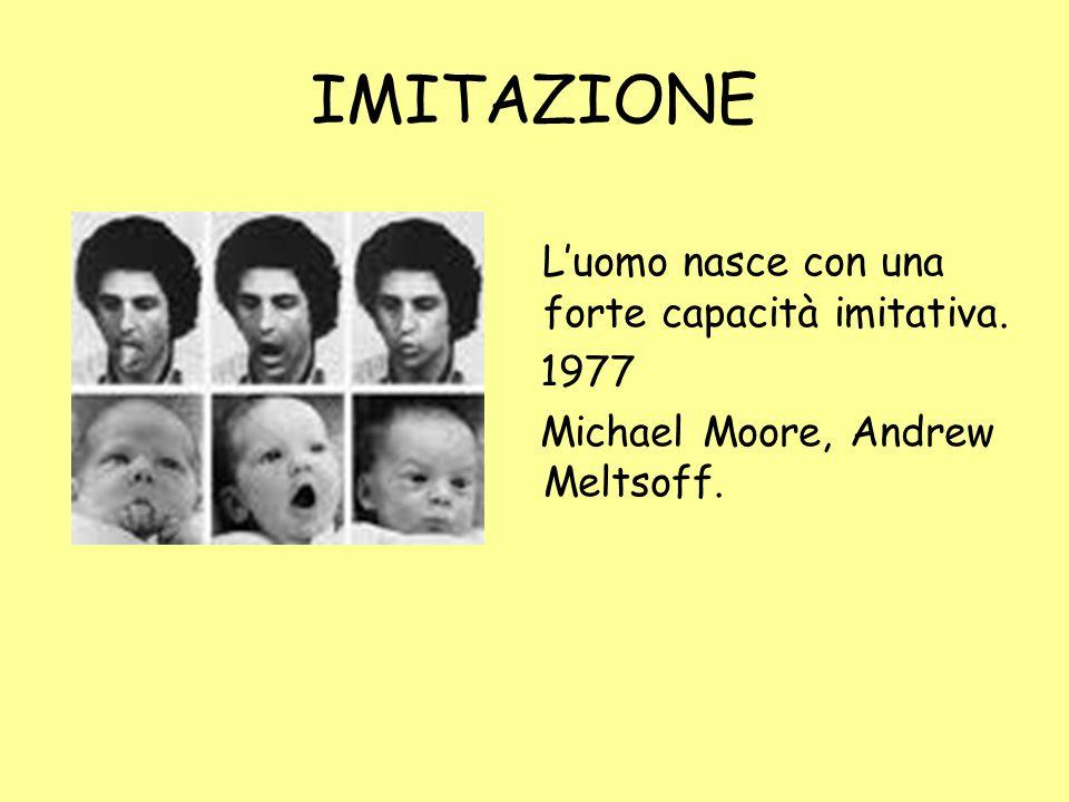 IMITAZIONE L'uomo nasce con una forte capacità imitativa. 1977 Michael Moore, Andrew Meltsoff.
