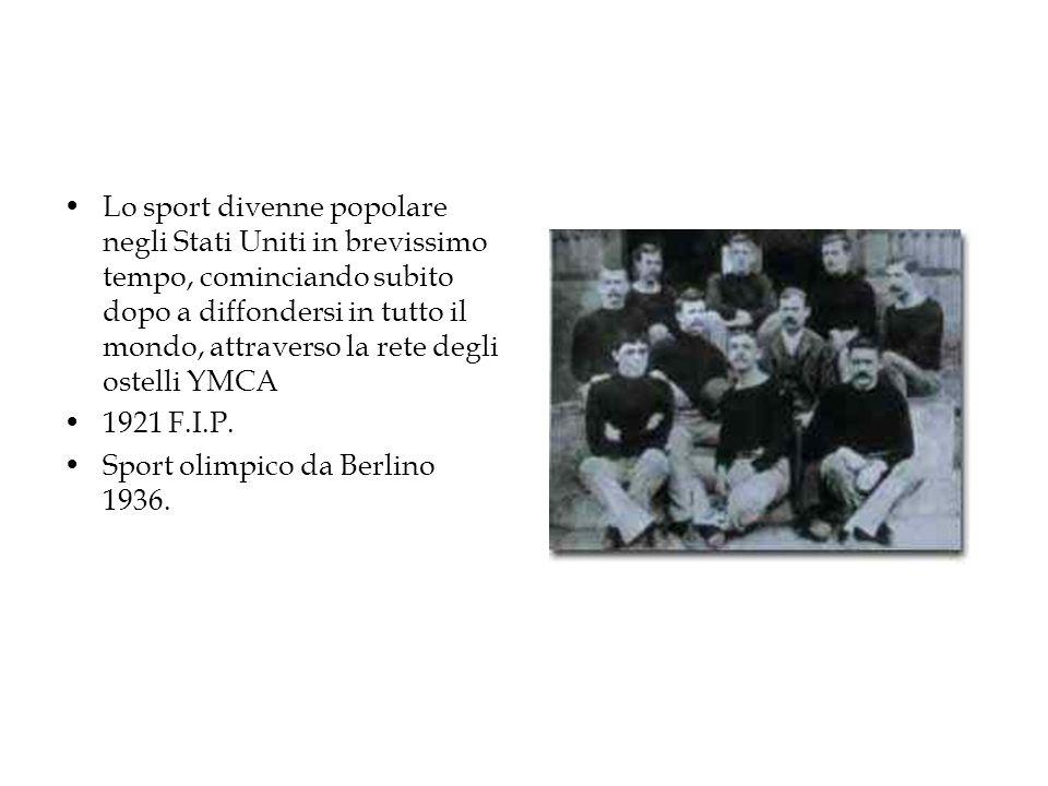 Lo sport divenne popolare negli Stati Uniti in brevissimo tempo, cominciando subito dopo a diffondersi in tutto il mondo, attraverso la rete degli ostelli YMCA 1921 F.I.P.