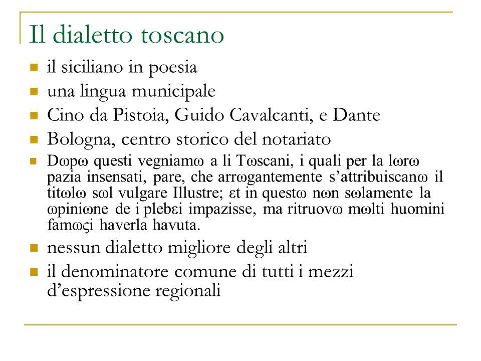 L'uso del toscano Antonio da Tempo: Summa artis rithmicae, 1332 la traduzione di Francesco Baratella (1447) : Se pò domandare per che più tosto usemo parole toscane in ritimi, cha altre.