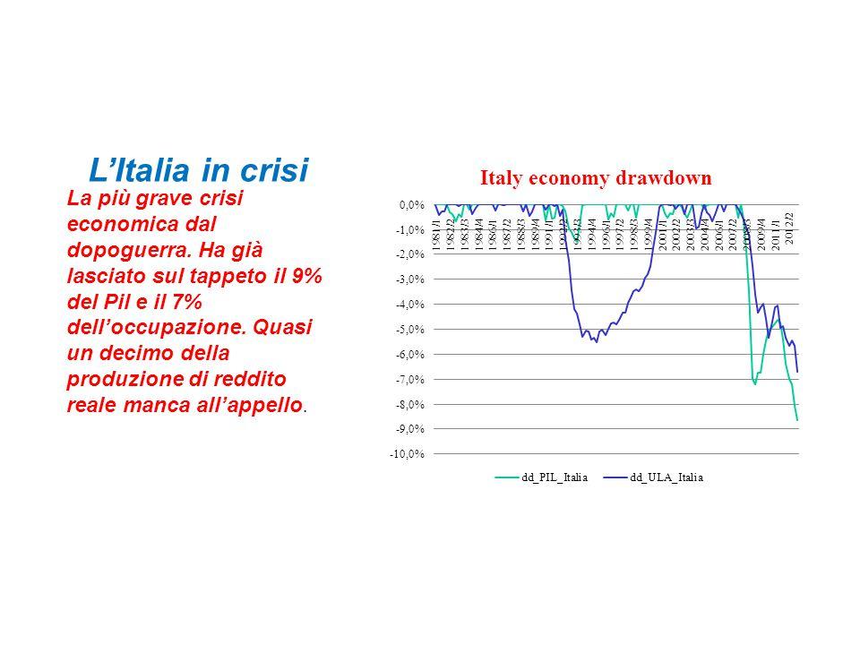 L'Italia in crisi La più grave crisi economica dal dopoguerra.