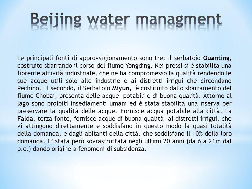 Uno dei principali problemi era l'assenza di depuratori delle acque di scarico, che ora vengono ripulite da impianti che trattano complessivamente il 92% delle acque utilizzate in città.