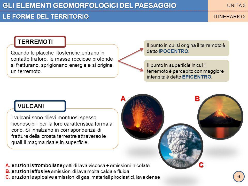 I vulcani sono rilievi montuosi spesso riconoscibili per la loro caratteristica forma a cono. Si innalzano in corrispondenza di fratture della crosta