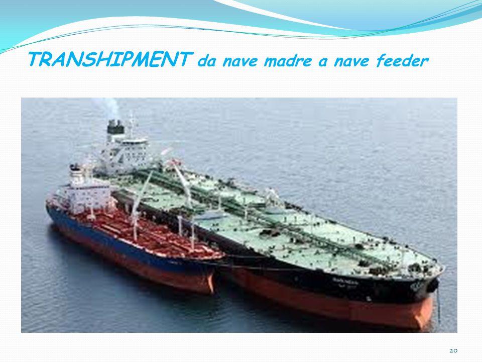 TRANSHIPMENT da nave madre a nave feeder 20