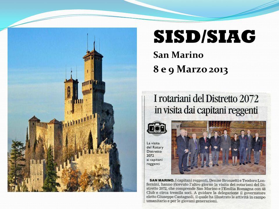 SISD/SIAG San Marino 8 e 9 Marzo 2013
