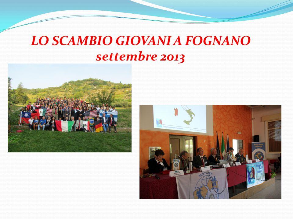 LO SCAMBIO GIOVANI A FOGNANO settembre 2013