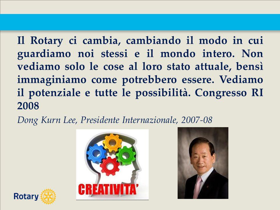 Il Rotary ci cambia, cambiando il modo in cui guardiamo noi stessi e il mondo intero.