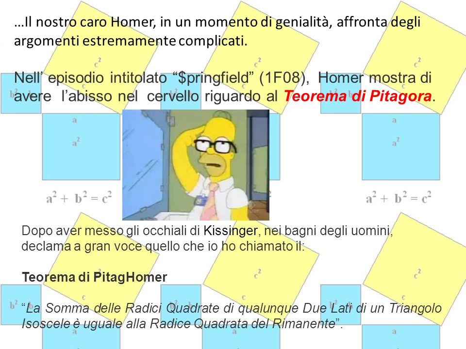 Bart, Marege e Maggi Sono soggetti un po' meno interessanti per quanto riguarda la matematica ma…