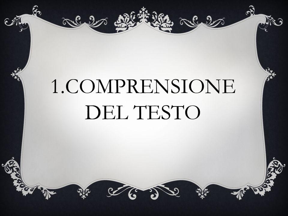 1.COMPRENSIONE DEL TESTO