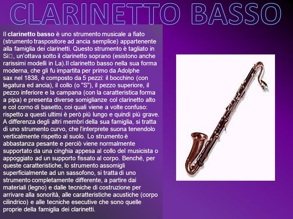 Il clarinetto basso è uno strumento musicale a fiato (strumento traspositore ad ancia semplice) appartenente alla famiglia dei clarinetti. Questo stru