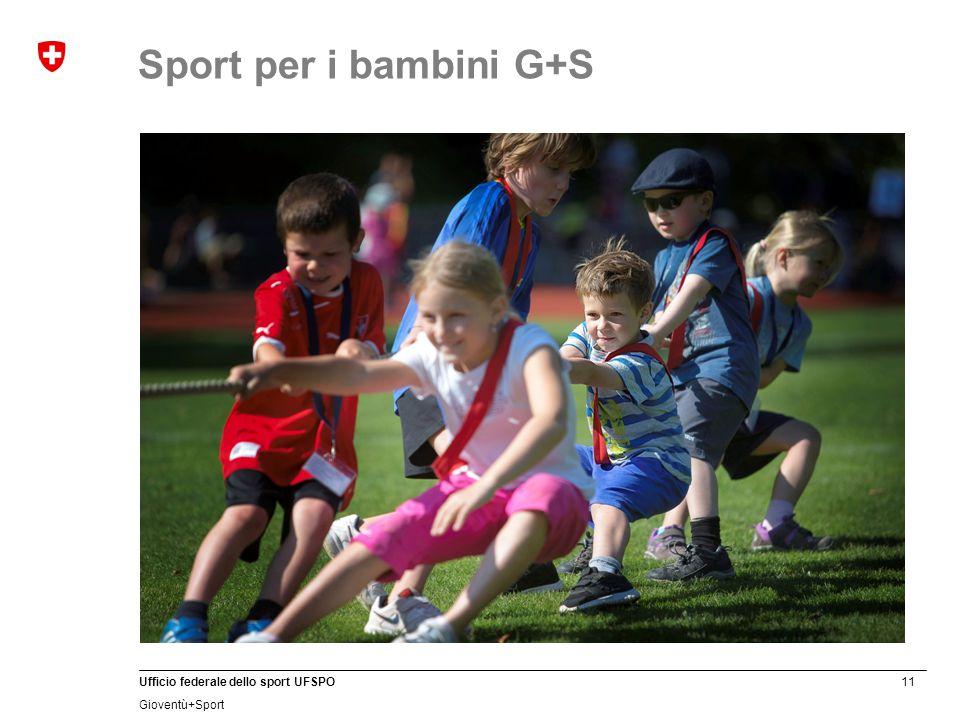 11 Ufficio federale dello sport UFSPO Gioventù+Sport Sport per i bambini G+S