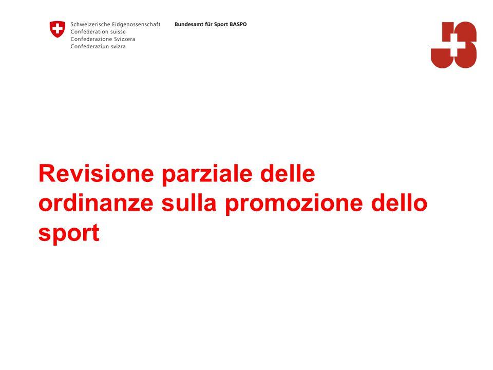 Revisione parziale delle ordinanze sulla promozione dello sport