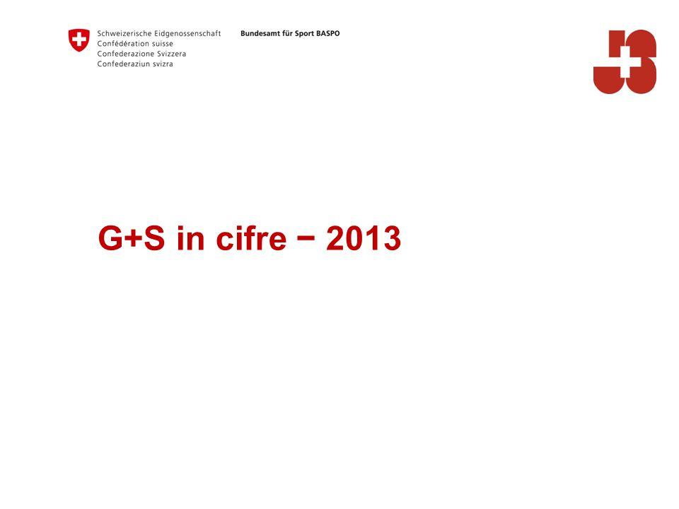 G+S in cifre − 2013