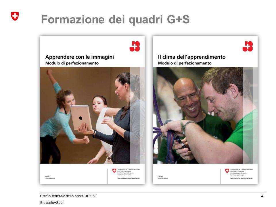 4 Ufficio federale dello sport UFSPO Gioventù+Sport Formazione dei quadri G+S