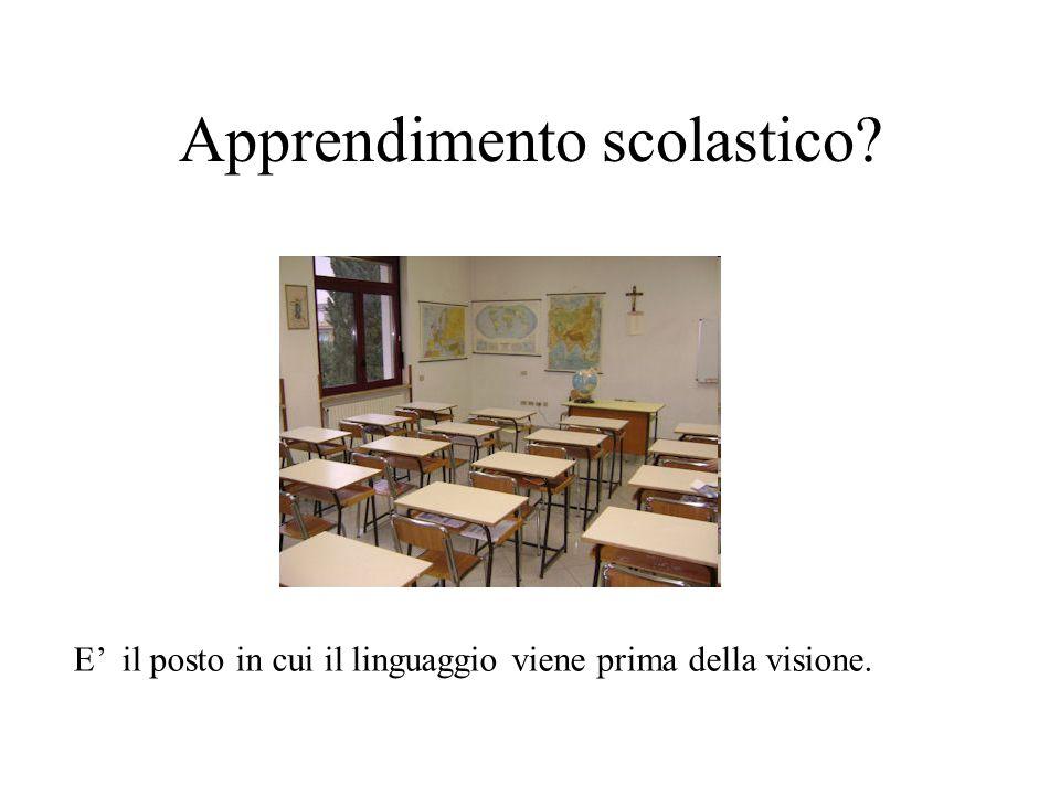 Apprendimento scolastico? E' il posto in cui il linguaggio viene prima della visione.