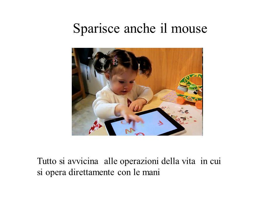 Sparisce anche il mouse Tutto si avvicina alle operazioni della vita in cui si opera direttamente con le mani
