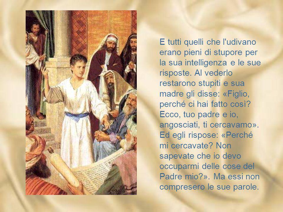 I nostri figli non sono nostri Famiglia santa, quella di Nazareth, eppure non le è risparmiata l'angoscia: «Angosciati, ti cercavamo».