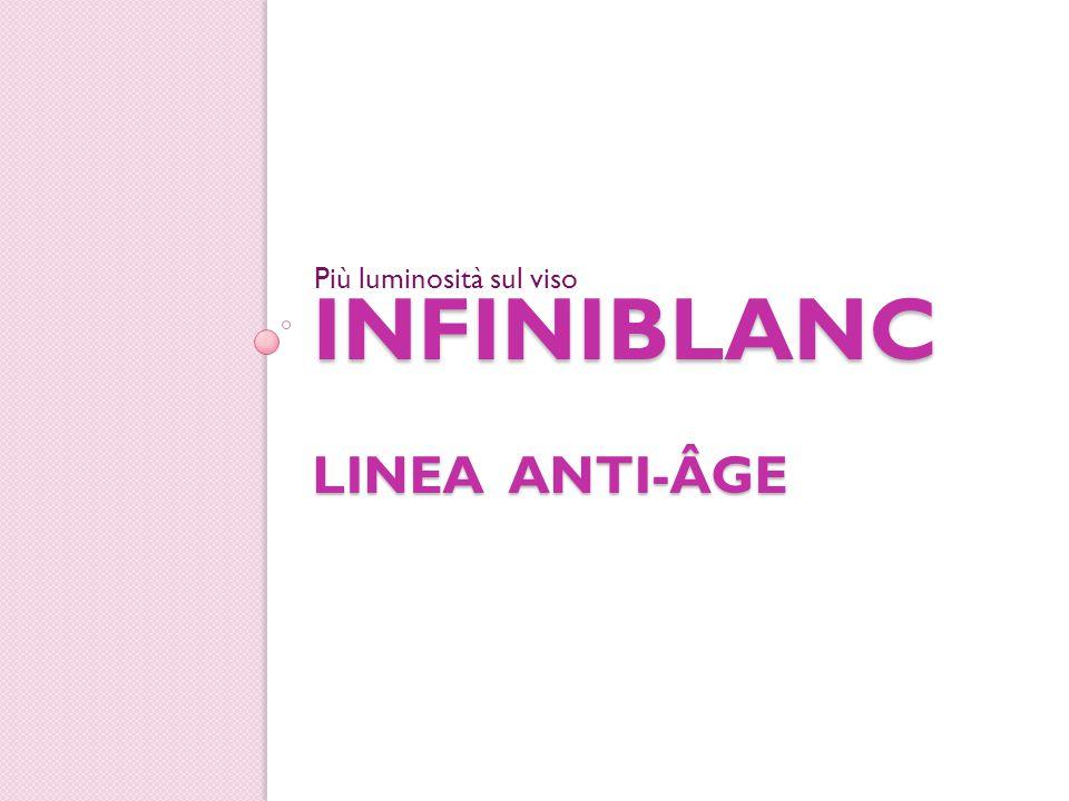 INFINIBLANC LINEA ANTI-ÂGE Più luminosità sul viso
