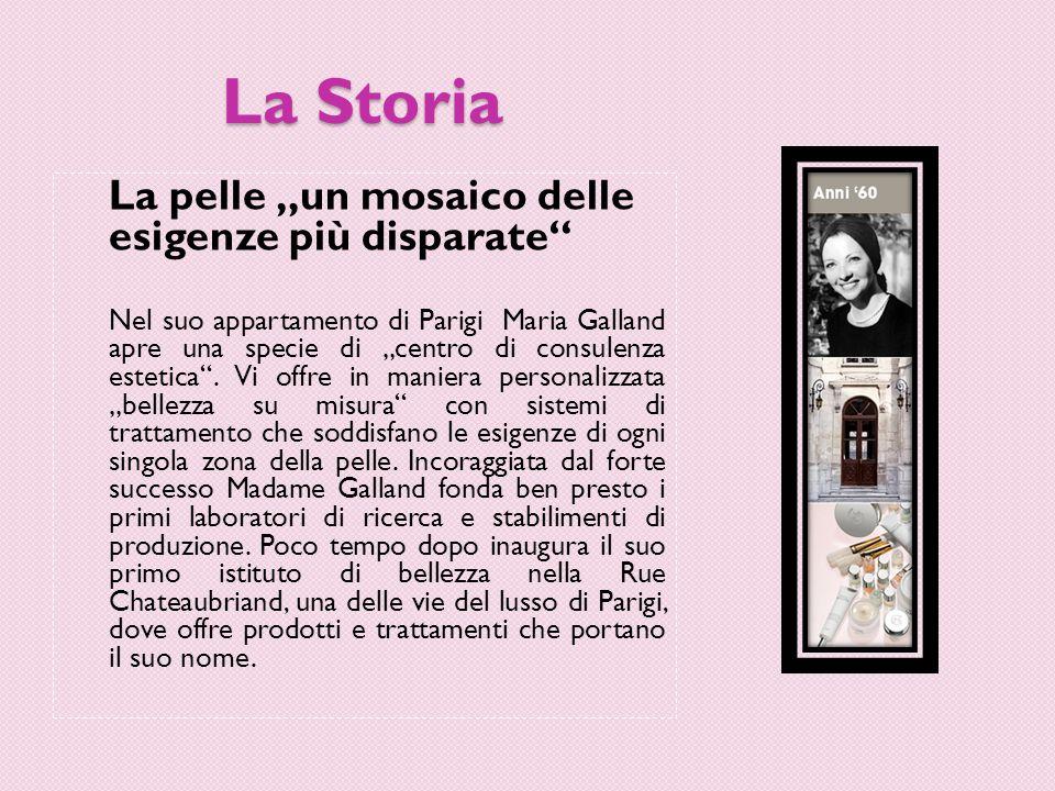 """La Storia La pelle """"un mosaico delle esigenze più disparate Nel suo appartamento di Parigi Maria Galland apre una specie di """"centro di consulenza estetica ."""
