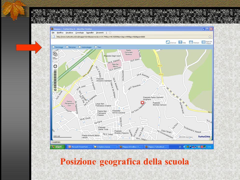 Posizione geografica della scuola