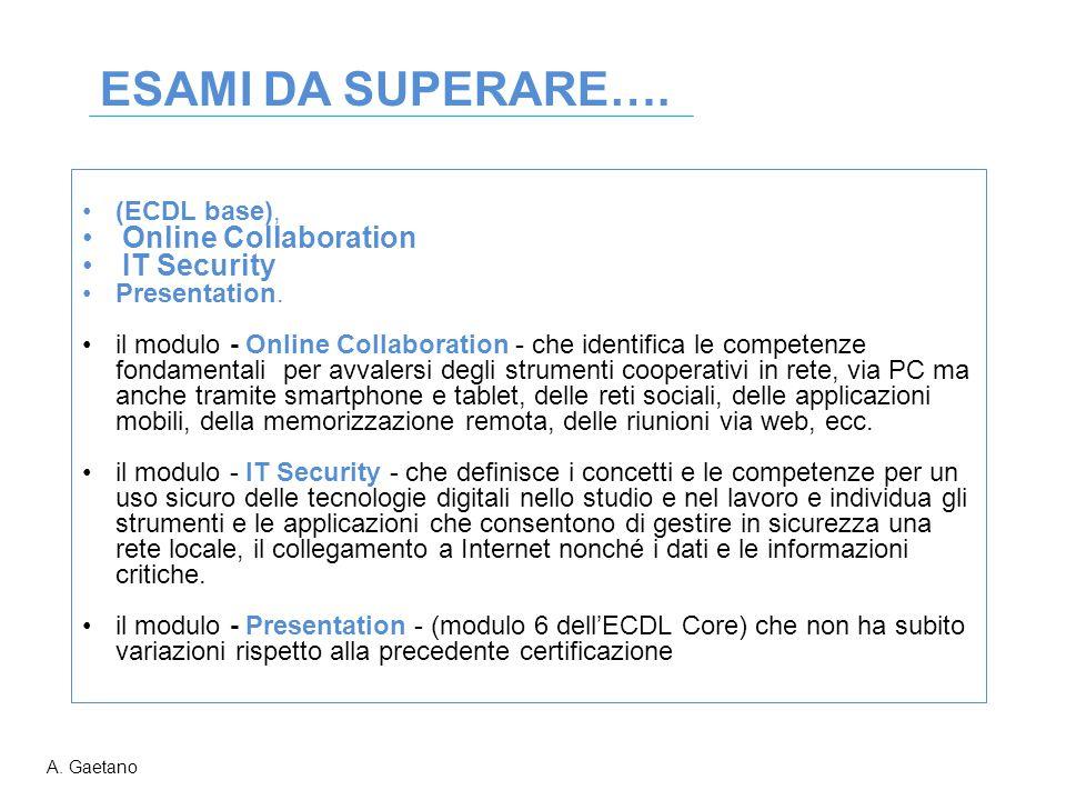 (ECDL base), Online Collaboration IT Security Presentation. il modulo - Online Collaboration - che identifica le competenze fondamentali per avvalersi