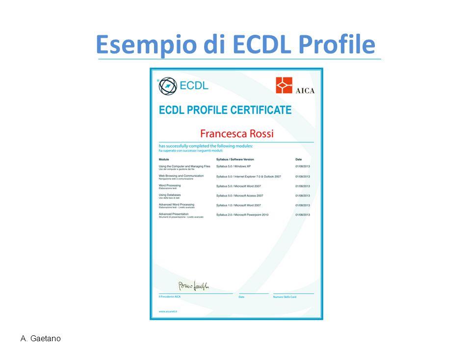 Esempio di ECDL Profile A. Gaetano