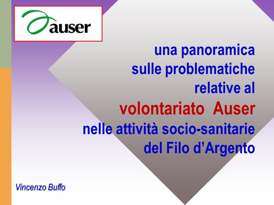 una panoramica sulle problematiche relative al volontariato Auser nelle attività socio-sanitarie del Filo d'Argento Vincenzo Buffo