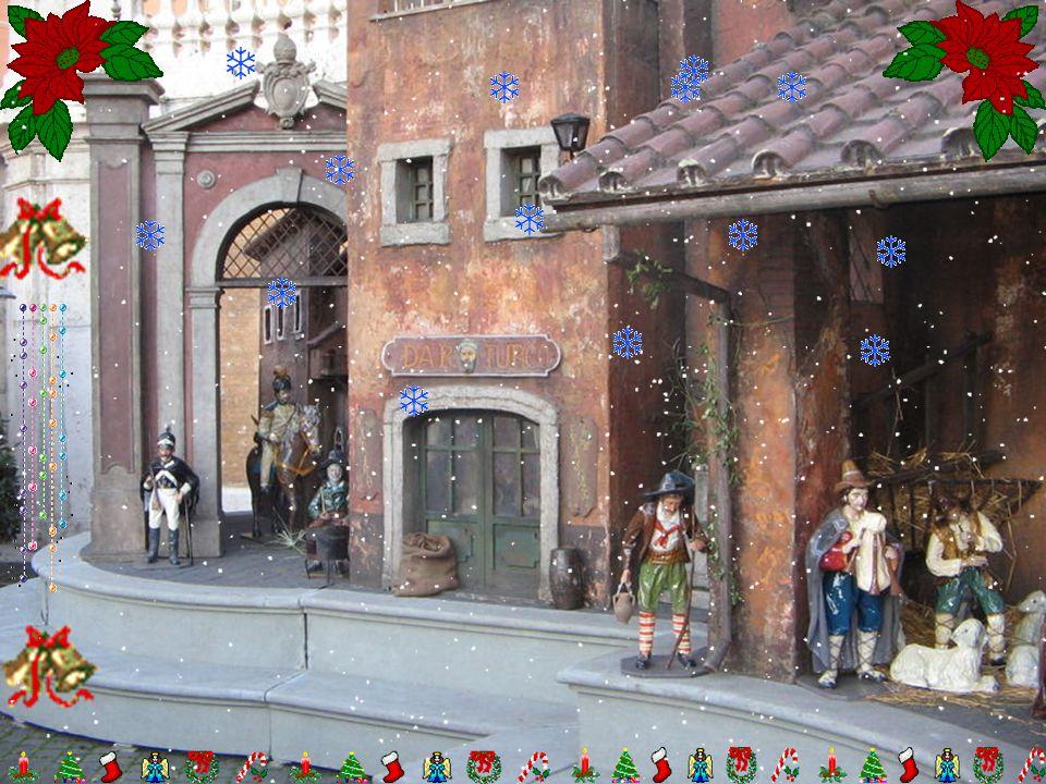 In attesa del Natale, il compito dei bimbi delle famiglie riunite nella casa patriarcale, era di lucidare le statuette e disporle, secondo la loro fan