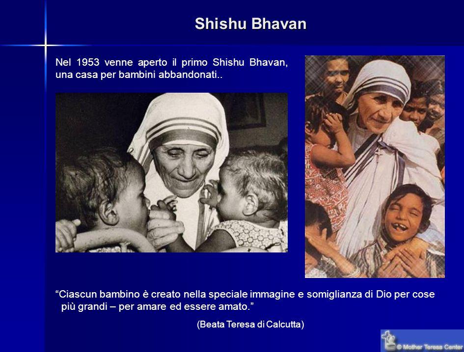 Shishu Bhavan Nel 1953 venne aperto il primo Shishu Bhavan, una casa per bambini abbandonati..