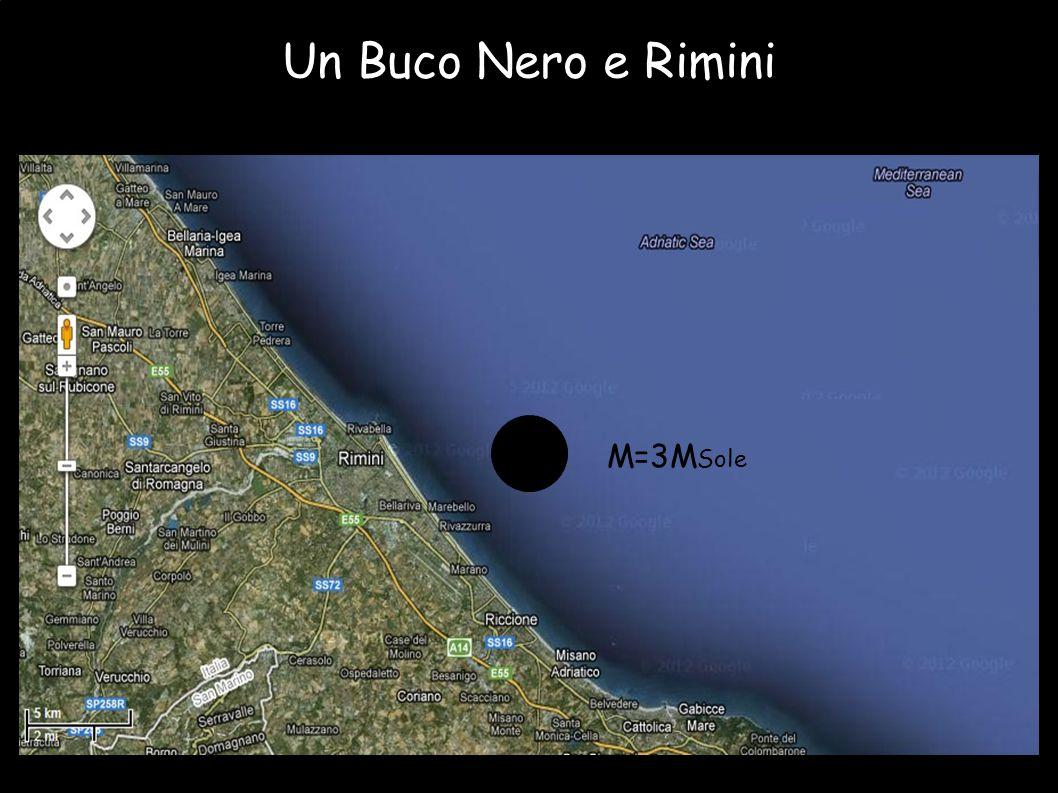 Un Buco Nero e Rimini M=3M Sole
