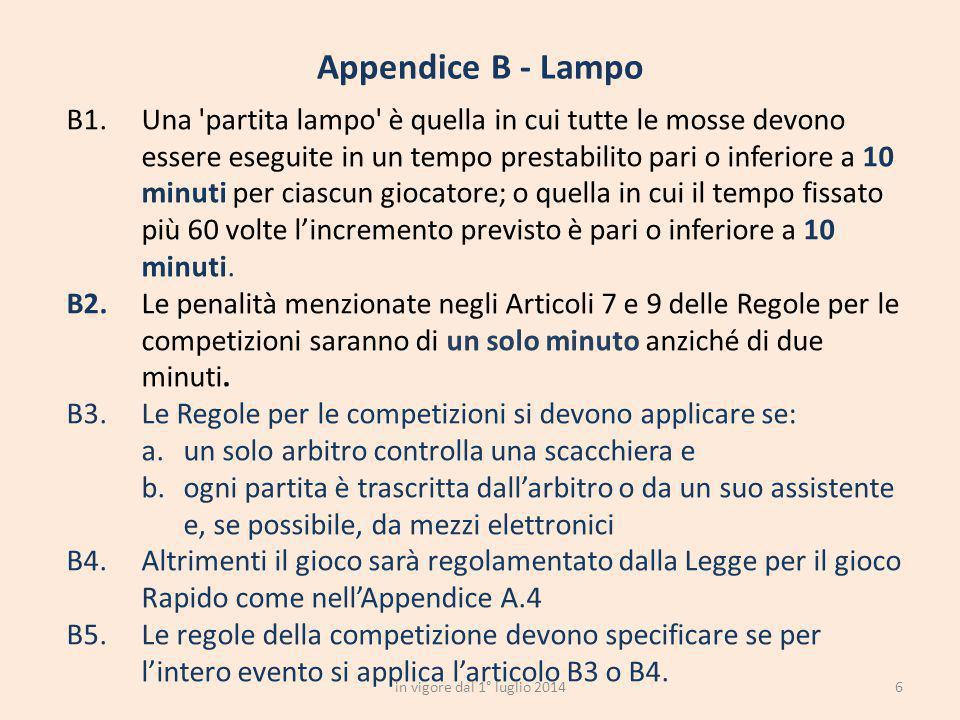 6 Appendice B - Lampo in vigore dal 1° luglio 2014
