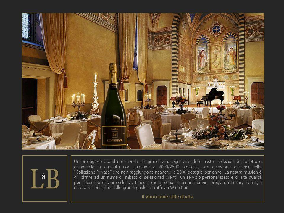 Un prestigioso brand nel mondo dei grandi vini. Ogni vino delle nostre collezioni è prodotto e disponibile in quantità non superiori a 2000/2500 botti