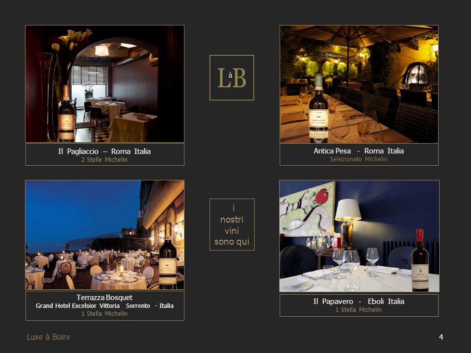 25 Luxe à Boire I nostri Vini Dopo aver illustrato i nostri brand ora passiamo a mostrare tutti nostri vini, attraverso schede esplicative contenenti le informazioni principali.