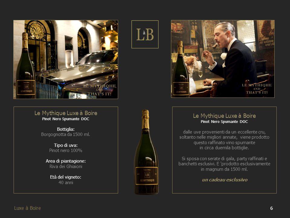 27 Luxe à Boire I nostri Vini Dopo aver illustrato i nostri brand ora passiamo a mostrare tutti nostri vini, attraverso schede esplicative contenenti le informazioni principali.