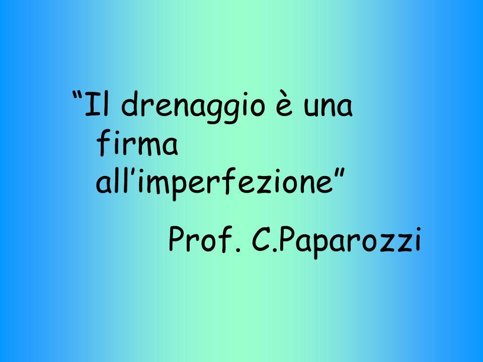 Il drenaggio è una firma all'imperfezione Prof. C.Paparozzi