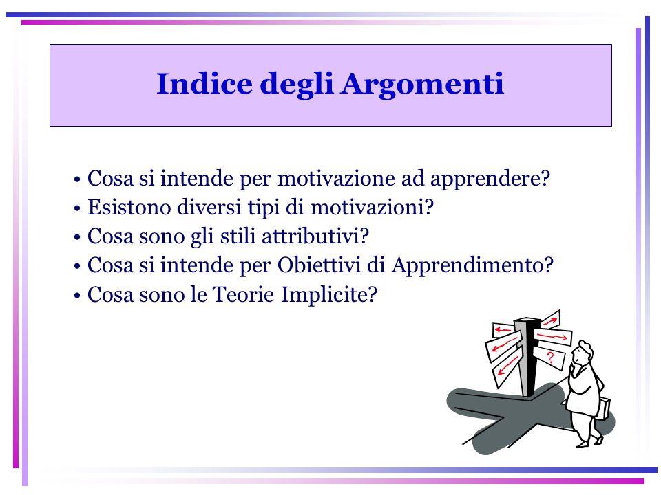 DEFINIZIONE DI MOTIVAZIONE La Motivazione All'apprendimento è un Processo che dall'interno: ATTIVA, DIRIGE e SOSTIENE l'allievo nell'acquisizione consapevole di CONOSCENZE, ABILITA' ed ATTEGGIAMENTI (Stipek, 1996).