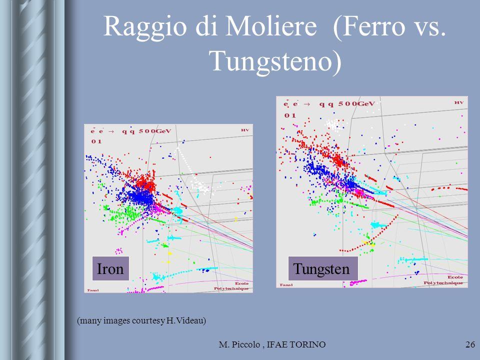 M. Piccolo, IFAE TORINO26 Raggio di Moliere (Ferro vs.