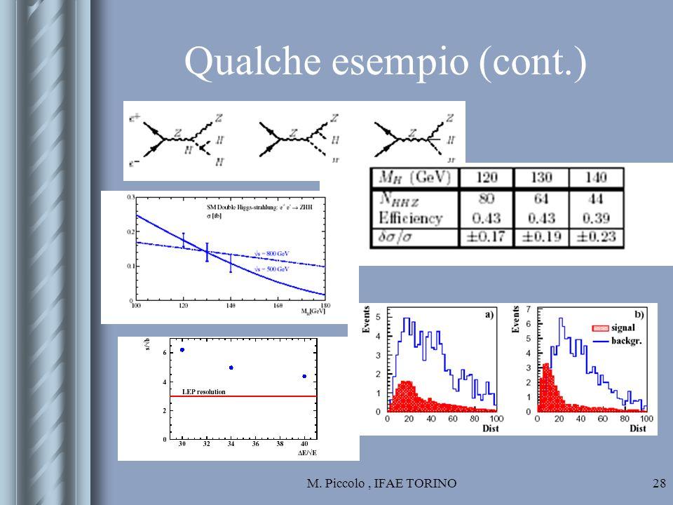 M. Piccolo, IFAE TORINO28 Qualche esempio (cont.)