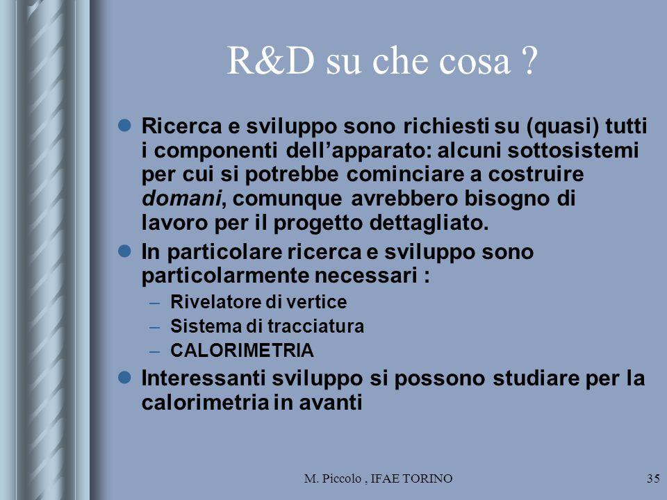 M. Piccolo, IFAE TORINO35 R&D su che cosa .