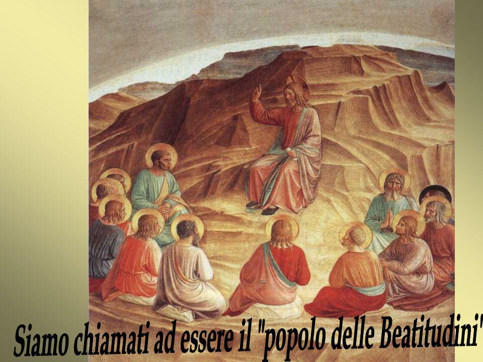Vedendo le folle Gesù salì sulla montagna e, messosi a sedere gli si avvicinarono i suoi discepoli Dal vangelo di Matteo(5,1-12)