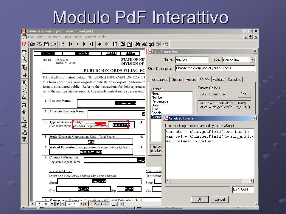 22 Modulo PdF Interattivo Semplice da UtilizzareSemplice da Utilizzare Controllo in tempo reale degli erroriControllo in tempo reale degli errori Non