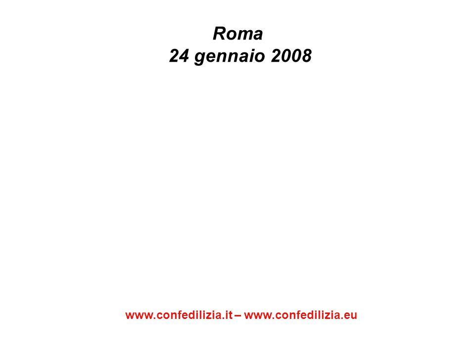 Roma 24 gennaio 2008 www.confedilizia.it – www.confedilizia.eu