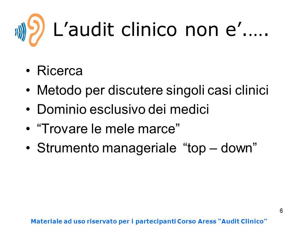 6 L'audit clinico non e'.….