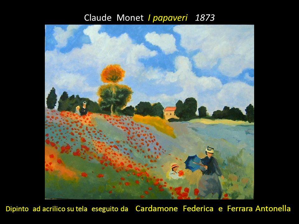 Claude Monet I papaveri 1873 Dipinto ad acrilico su tela eseguito da Cardamone Federica e Ferrara Antonella
