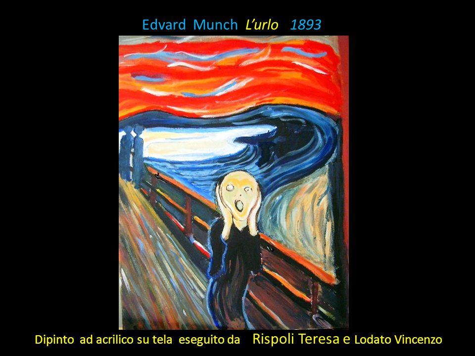 Edvard Munch L'urlo 1893 Dipinto ad acrilico su tela eseguito da Rispoli Teresa e Lodato Vincenzo