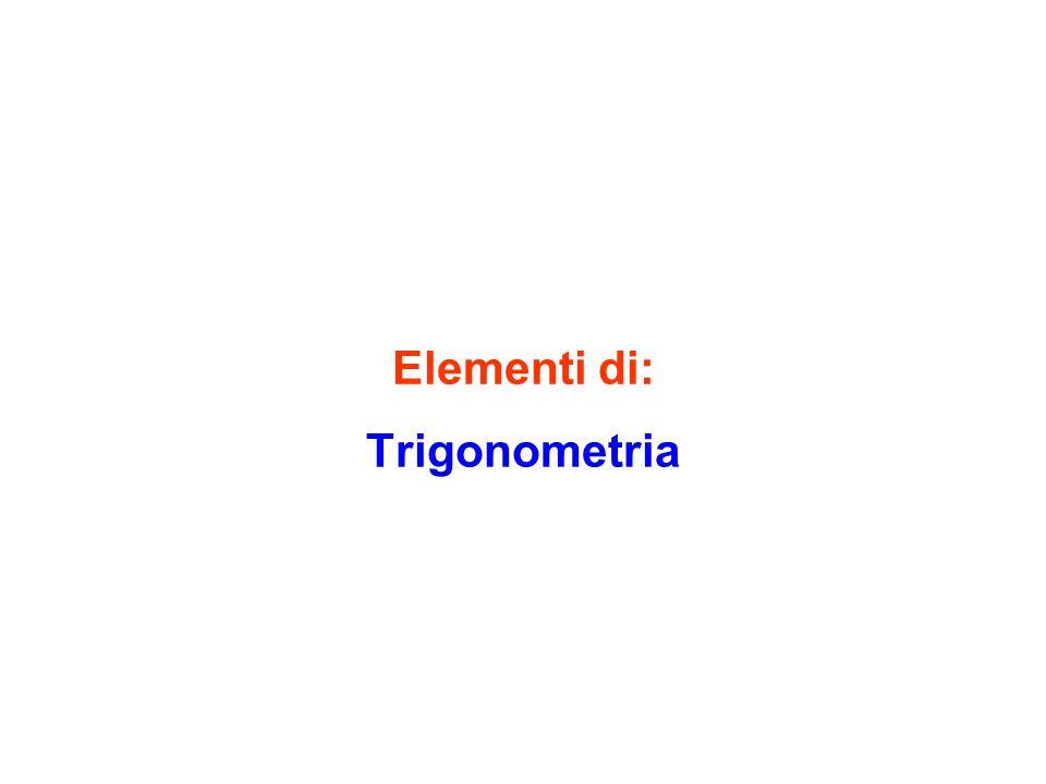 Elementi di: Trigonometria