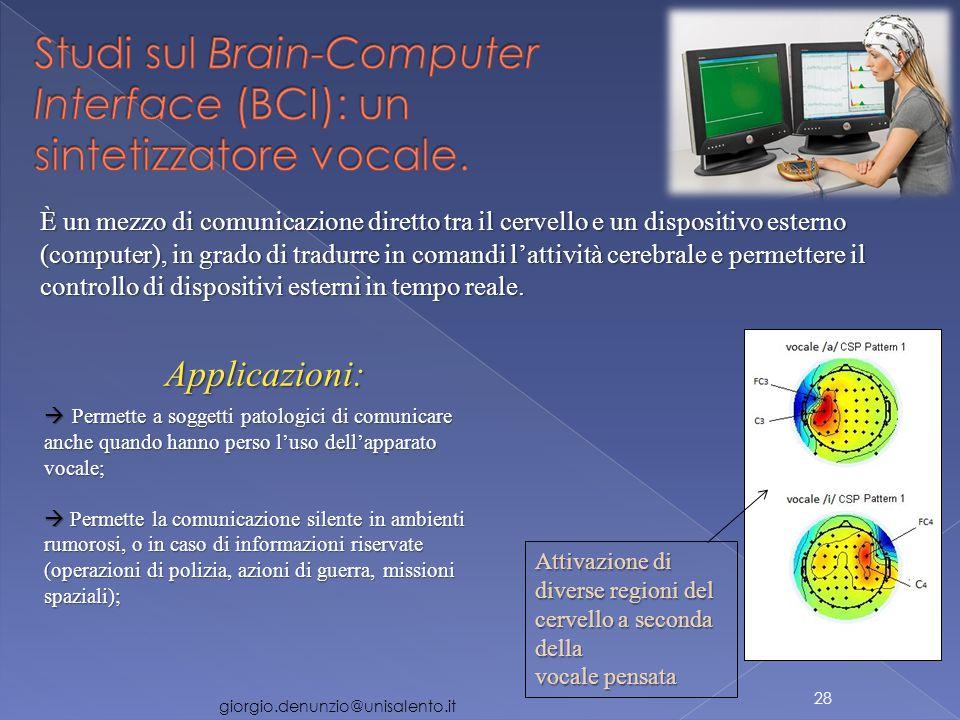 È un mezzo di comunicazione diretto tra il cervello e un dispositivo esterno (computer), in grado di tradurre in comandi l'attività cerebrale e permettere il controllo di dispositivi esterni in tempo reale.