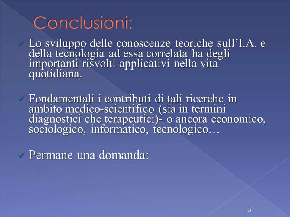 Lo sviluppo delle conoscenze teoriche sull'I.A.