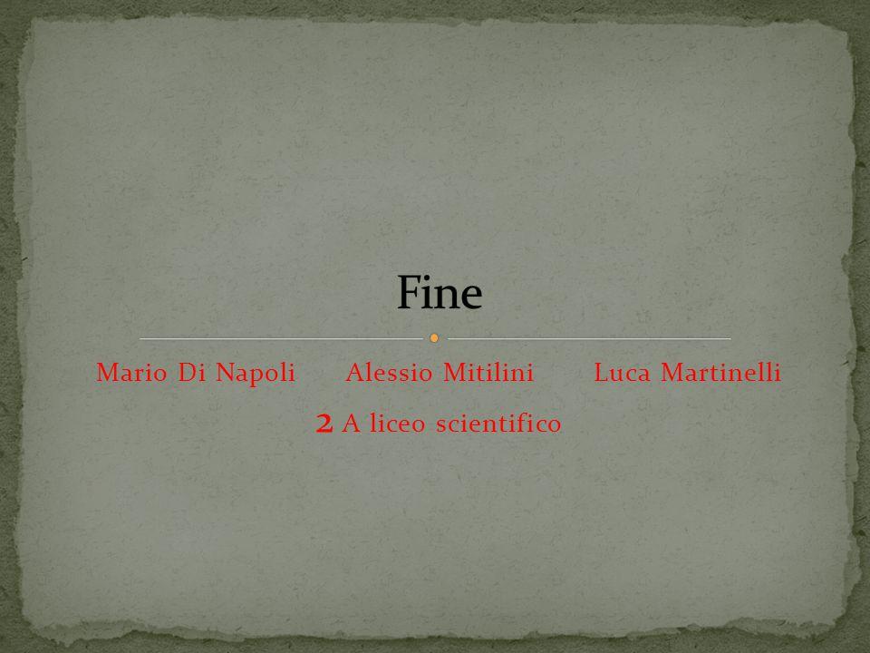 Mario Di Napoli Alessio Mitilini Luca Martinelli 2 A liceo scientifico